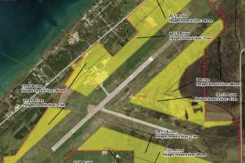 Overhead layout of Wiarton Airport