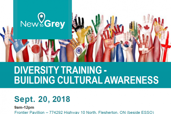 Flyer for the Cultural Diversity Training
