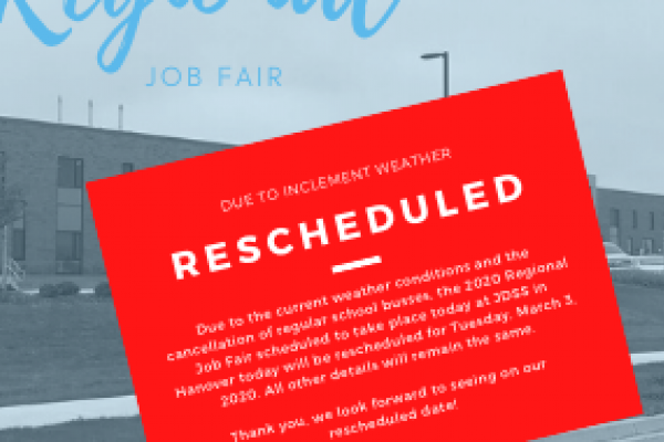 Regional Job Fair Hanover Rescheduled